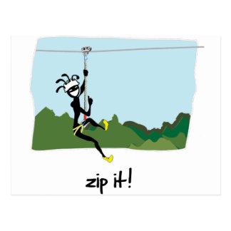"""""""Zip It!"""" Postcard"""