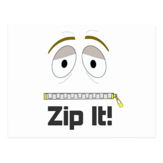 Zip It! Postcard