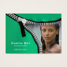 Zip It Up Business Card template (actor head shot)