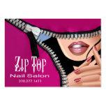 Zip It Up Business Card template (salon)