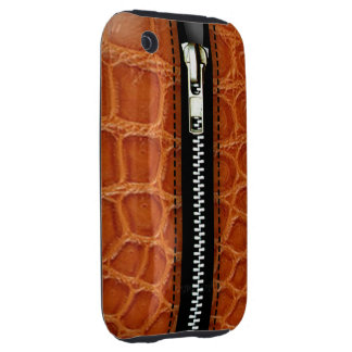 Zip It Up Crocodile hard plastic (caramel) iPhone 3 Tough Case