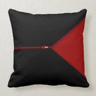 Zip It Up Faux Zipper Throw Pillow