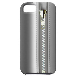 Zip It Up Silver Leather iPhone 5 Cover