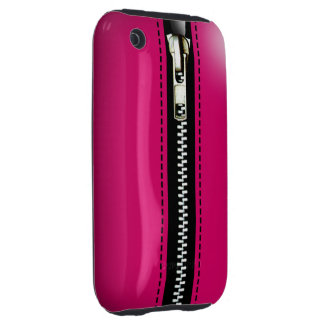 Zip It Up Surreal hard plastic (fuschia) iPhone 3 Tough Case