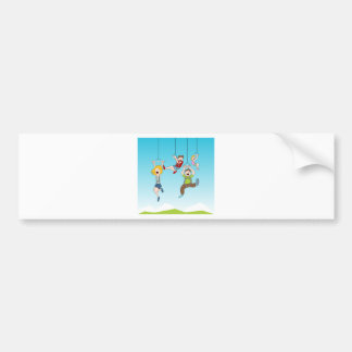 Zip Line Riders Bumper Sticker