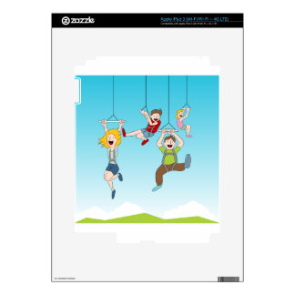 Zip Line Riders Decal For iPad 3