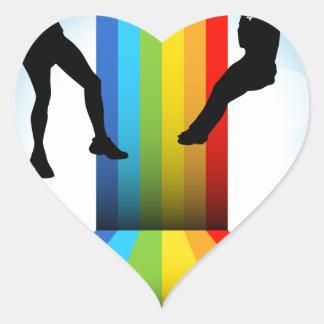 Zip Line Riders Heart Sticker