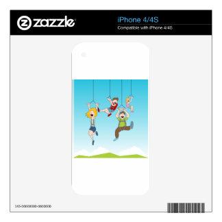 Zip Line Riders iPhone 4S Decals