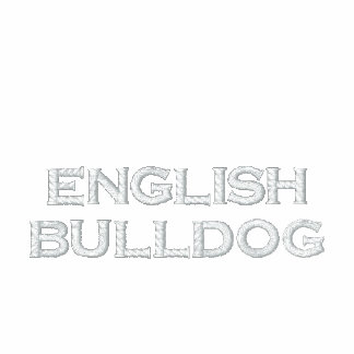 Zip Sweat Mr. (signors) English Bulldog Embroidered Jacket