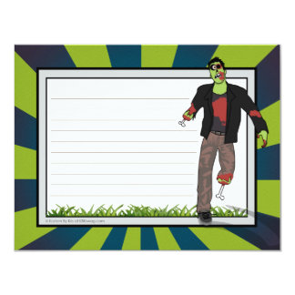 Zip the Zombie Note Card Announcements