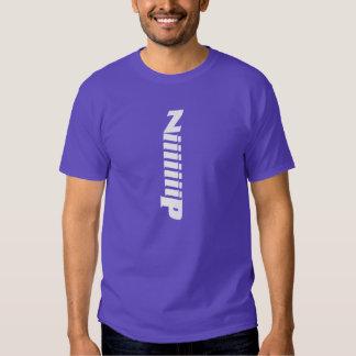 Zip Typography Design T Shirt