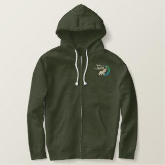 Zip-up hoodie in army green