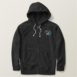 Zip-up hoodie in dark grey