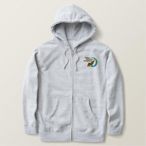 Zip_up hoodie in grey