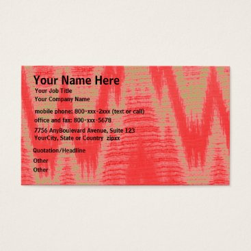 Professional Business Zip Zag Tan and Coral Pattern Business Card