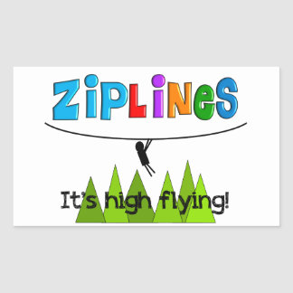 ZipLine Lovers Gifts Rectangular Sticker