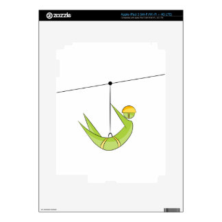 Zipline Rider Stick Figure Icon iPad 3 Skins