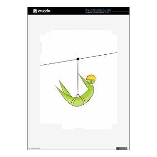 Zipline Rider Stick Figure Icon Skin For The iPad 2