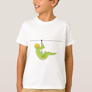 Zipline Rider Stick Figure Icon T-Shirt