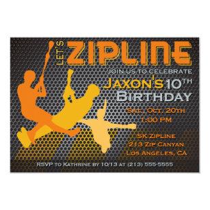 Zip line party invitations announcements zazzle ziplining boys birthday invitation lets zipline stopboris Gallery