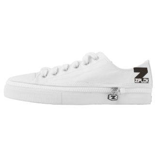 Ziplok - Black/White Logo Low-Cut Zipz Sneakers