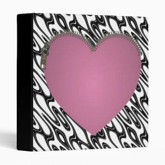 Zipped Heart Folder Binder