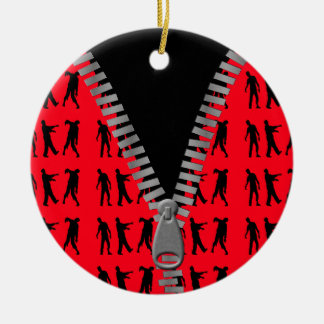 Zipped Up Zombies Everywhere Christmas Ornament