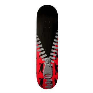 Zipped Up Zombies Everywhere Skateboard Deck