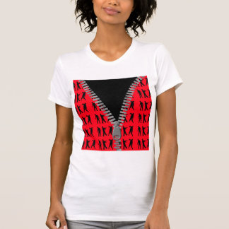 Zipped Up Zombies Everywhere T-Shirt