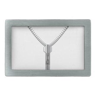 Zipper 2 rectangular belt buckle