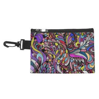 Zipper Bag Purple Peacock Multicolor Funky Paisley