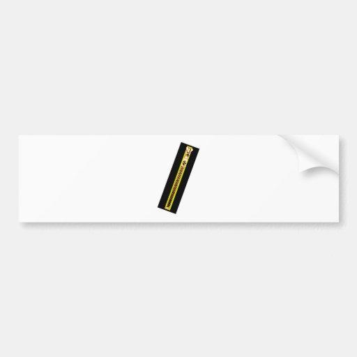 Zipper Black Yellow Copper 20 The MUSEUM Zazzle Car Bumper Sticker