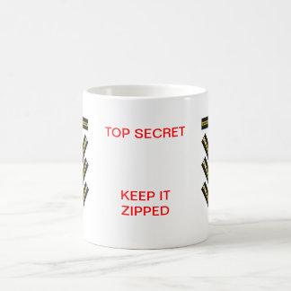 Zipper Black Yellow Copper 40-8 The MUSEUM Zazzle Classic White Coffee Mug