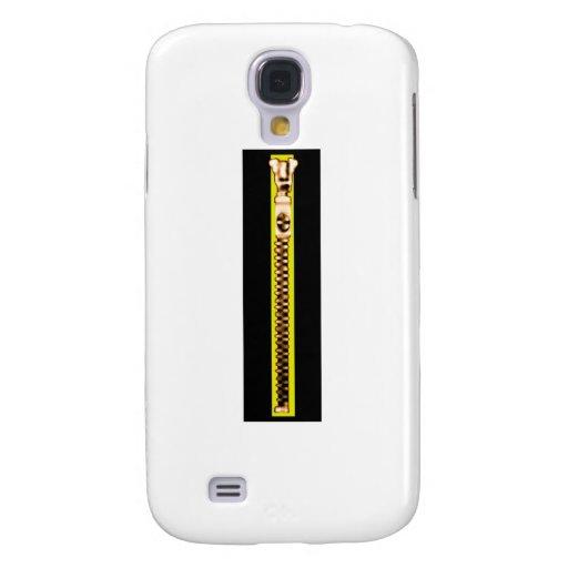 Zipper Black Yellow Copper The MUSEUM Zazzle Samsung Galaxy S4 Covers