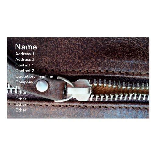 Zipper Business Card Templates