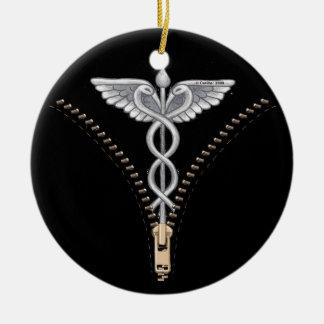 Zipper Caduceus Ornaments
