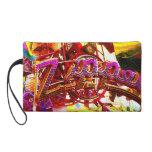 Zipper Carnival Ride Fun Art Photo Purse Wristlet Purse