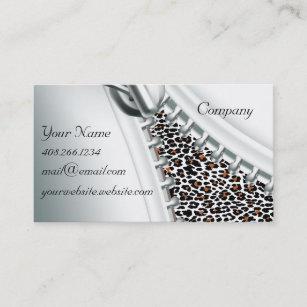 Zipper business cards zazzle zipper cheetah calendar business card reheart Gallery
