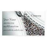 Zipper Cheetah Calendar Business Card