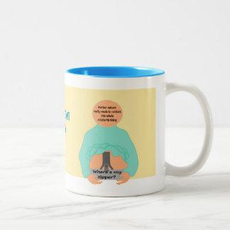 Zipper Childbirth Two-Tone Coffee Mug