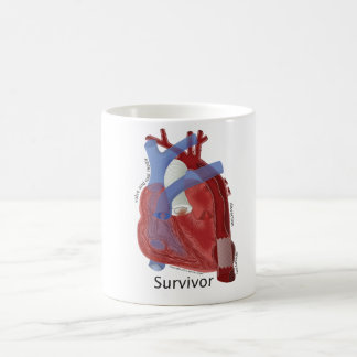 Zipper Club Heart Art Ceramic Mug by Kevin Shea