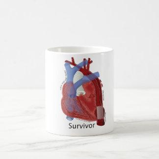 Zipper Club Heart Art Ceramic Mug by Kevin Shea