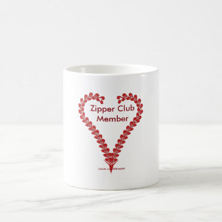 Zipper Club Member Coffee Mug Heart Art