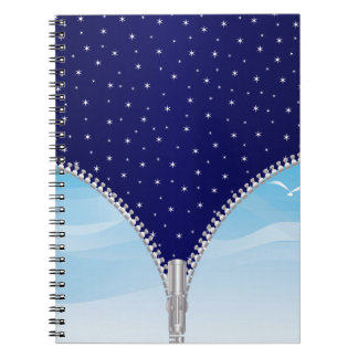 Zipper Day And Night Notebook