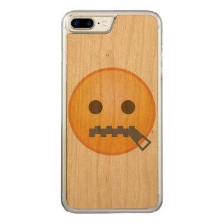 Zipper Emoji Carved iPhone 7 Plus Case