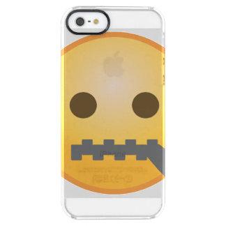 Zipper Emoji Clear iPhone SE/5/5s Case