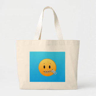 Zipper Emoji Large Tote Bag
