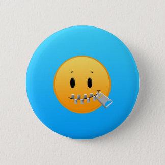 Zipper Emoji Pinback Button