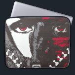 """Zipper face Laptop Sleeve<br><div class=""""desc"""">Zipper face Neoprene Laptop Sleeve. China ink drawing. Applied art by Cecilia Fuentes</div>"""