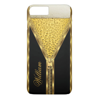 Zipper Gold Beer Drink Black and Gold iPhone 8 Plus/7 Plus Case